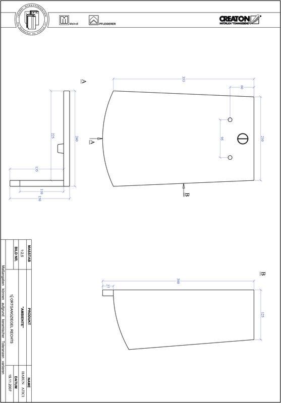 Product CAD file AMBIENTE segmented cut SEG-OGR-1-1-4