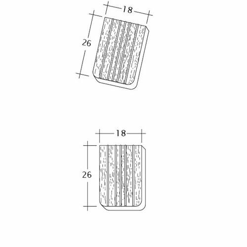 Product technical drawing ANTIK ErhO-Korb-Traufziegel