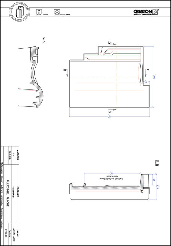 Product CAD file SINFONIE shed roof tile field PULTFLA