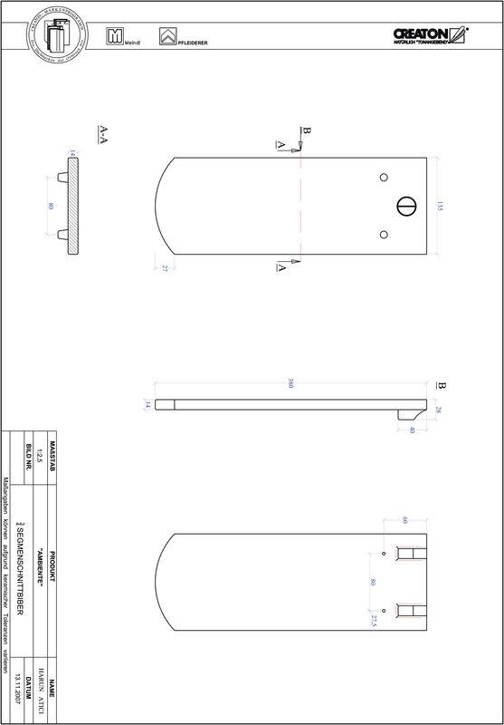 Product CAD file AMBIENTE segmented cut SEG-3-4