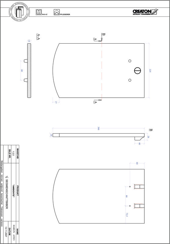Product CAD file AMBIENTE segmented cut SEG-1-1-4