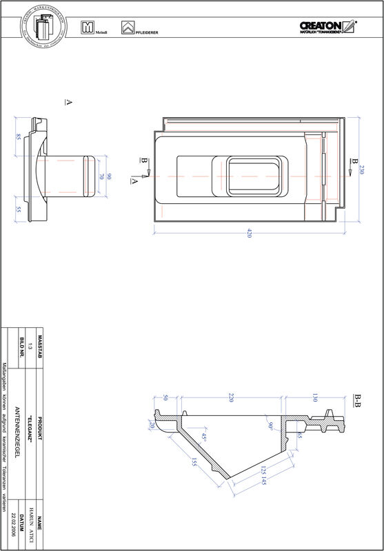 Product CAD file ELEGANZ Aerial ANTENNE