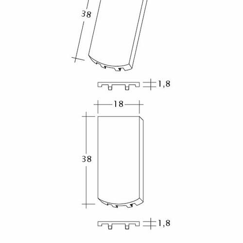 Product technical drawing AMBIENTE Seg-Flaechen-LUEFTZ