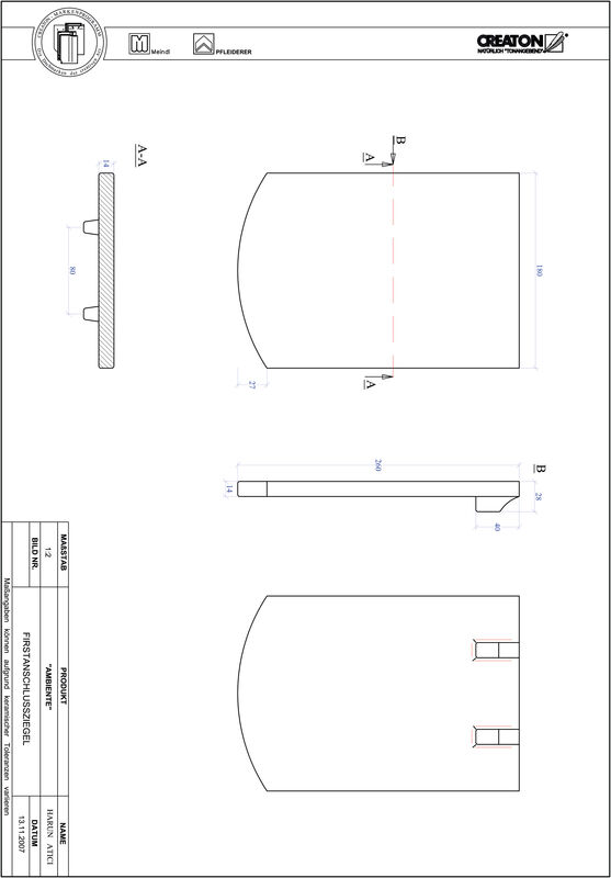 Product CAD file AMBIENTE segmented cut SEG-FAZ