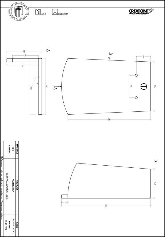 Product CAD file AMBIENTE segmented cut SEG-OGL-1-1-4