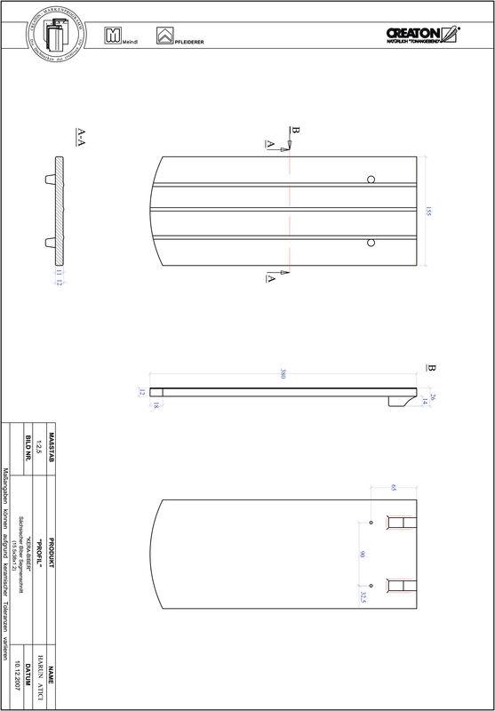Product CAD file PROFIL segmented cut KERA-SAECHS-15-CM-1-1
