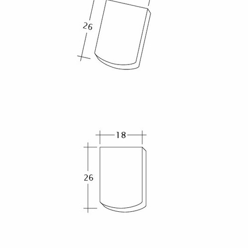 Product technical drawing AMBIENTE Seg-Firstanschluss