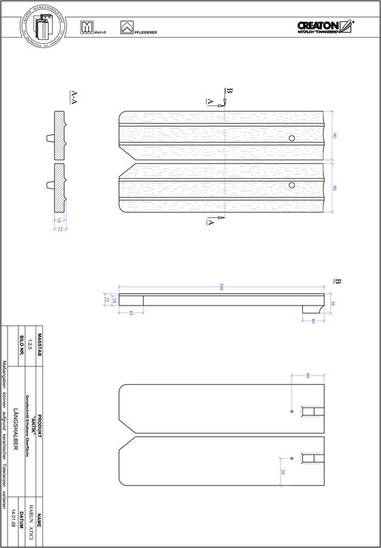 Product CAD file ANTIK straight cut GER-LH