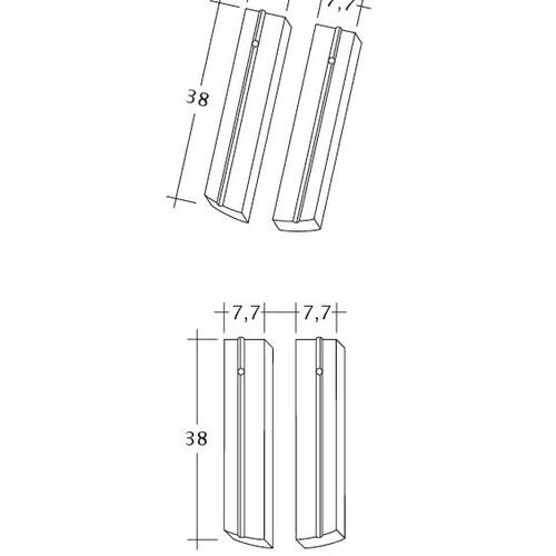 Product technical drawing PROFIL Kera-Saechs-15cm-1-2