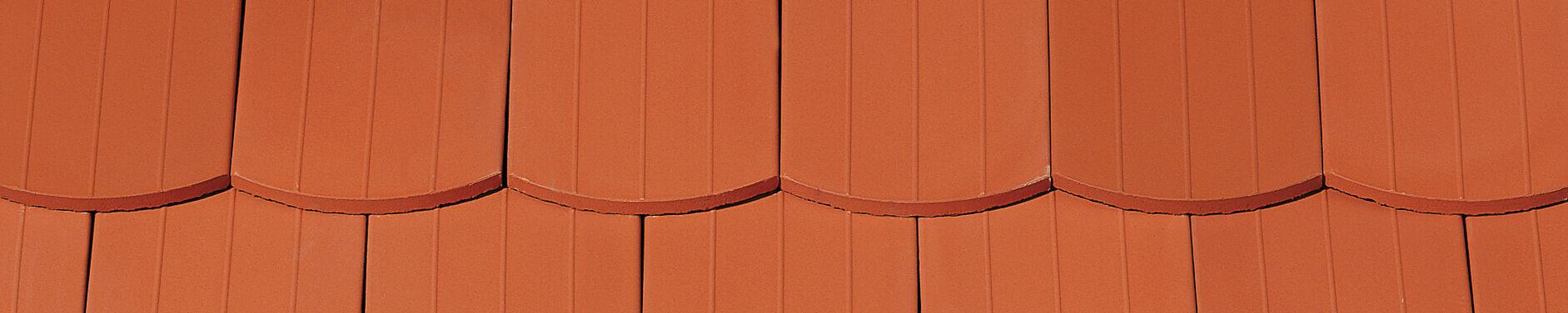 KERA-BIBER PROFIL Saxony plain tile natural red