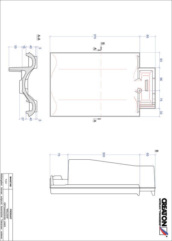 Product CAD file MELODIE verge left OGL