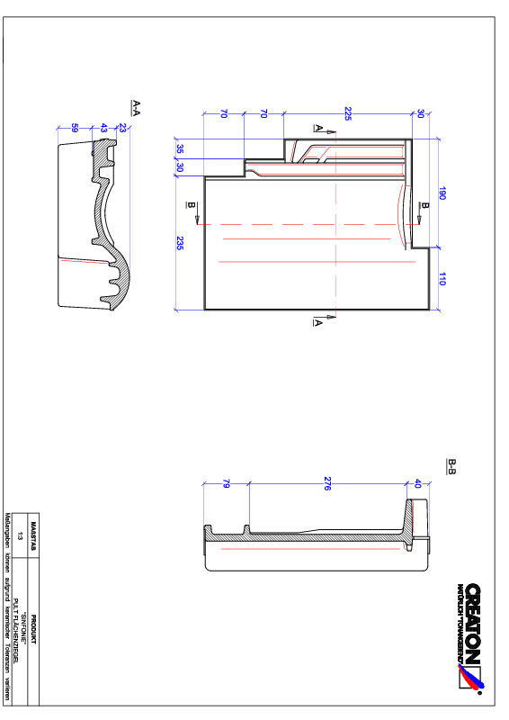 Product CAD file SINFONIE shed roof tile PULT