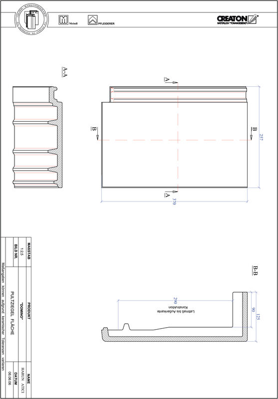 Product CAD file DOMINO shed roof tile field PULTFLA