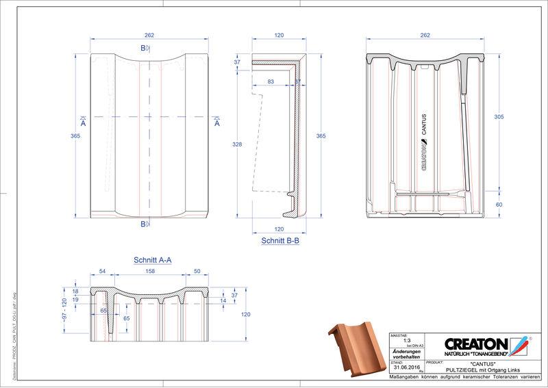 Product CAD file CANTUS shed roof tile verge left PULTOGL