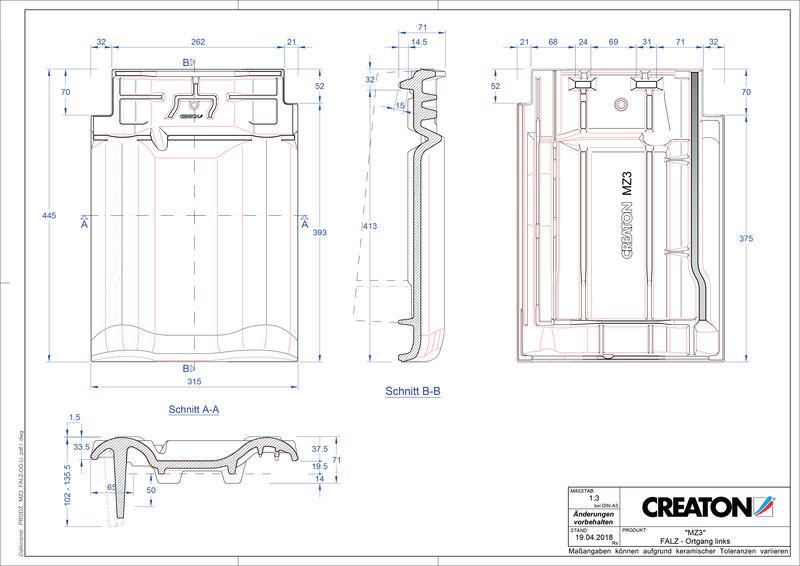 Product CAD file MZ3 NEU ridge connection ventilator verge left FALOGL