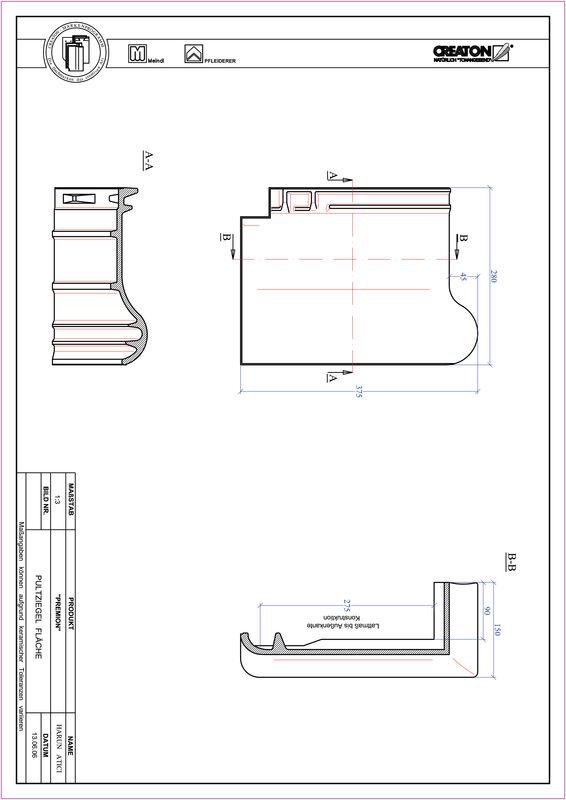 Product CAD file PREMION shed roof tile PULT