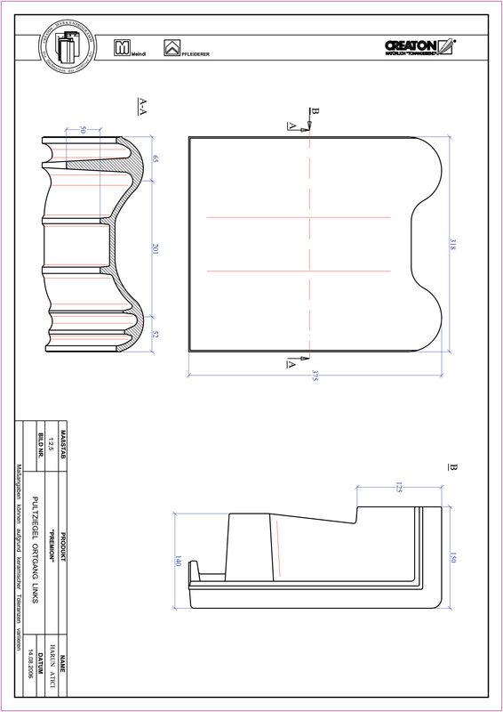 Product CAD file PREMION shed roof tile verge left PULTOGL