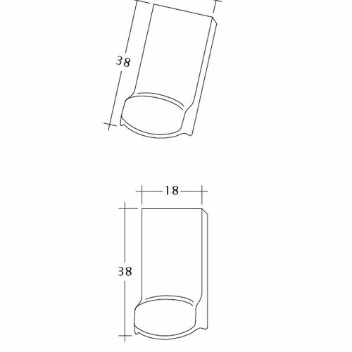 Product technical drawing AMBIENTE Seg-LUEFTZ