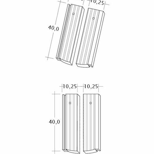 Product technical drawing PROFIL Strangfalz-gewellt-1-2