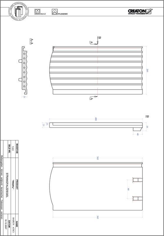 Product CAD file PROFIL segmented cut STRANGFALZ-GEWELLT-1-1