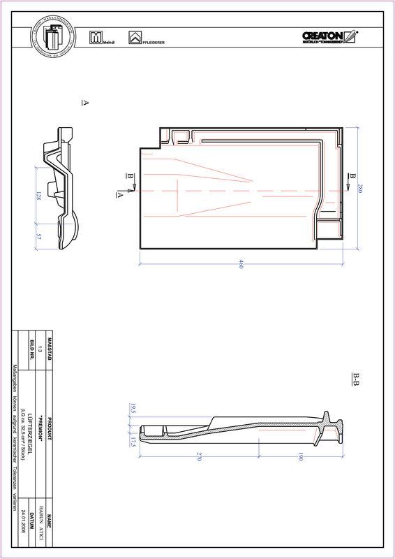 Product CAD file PREMION ventilating tile LUEFTZ