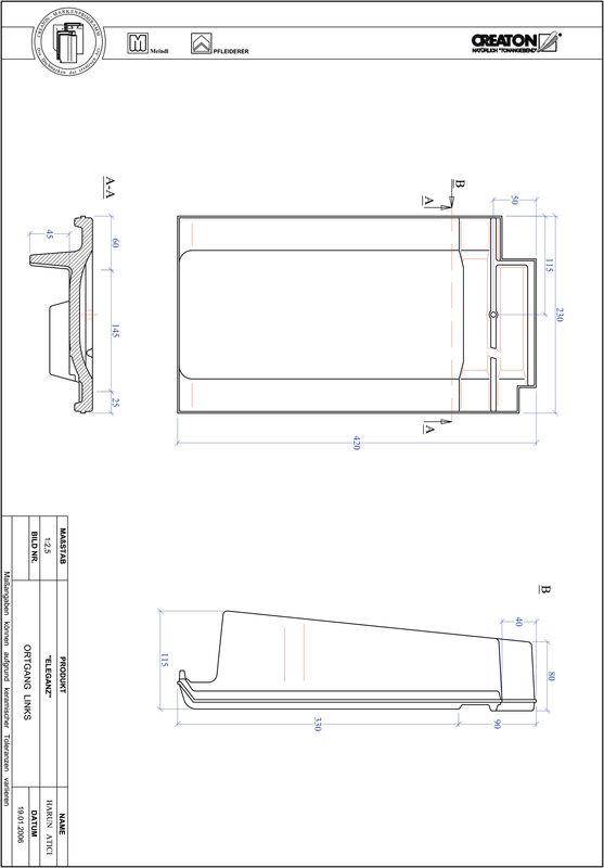 Product CAD file ELEGANZ verge left OGL