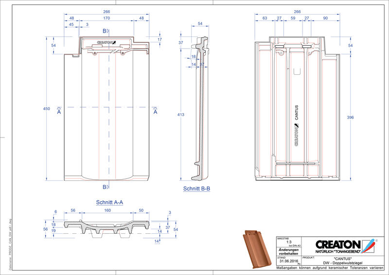 Product CAD file CANTUS double roll tile DWZ