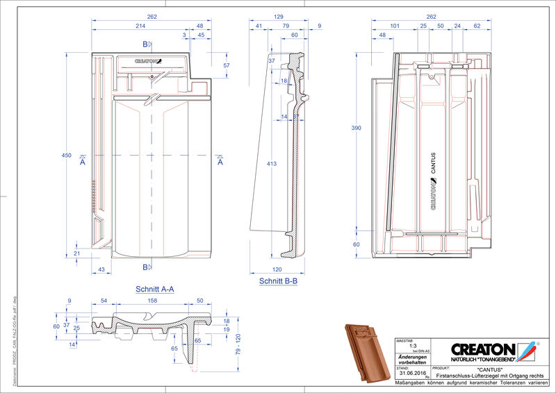 Product CAD file CANTUS ridge connection ventilator verge right FALOGR