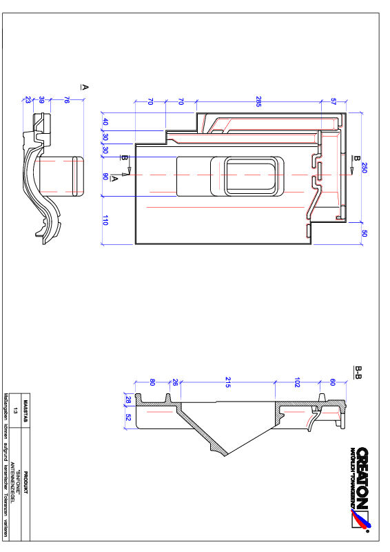 Product CAD file SINFONIE Aerial ANTENNE