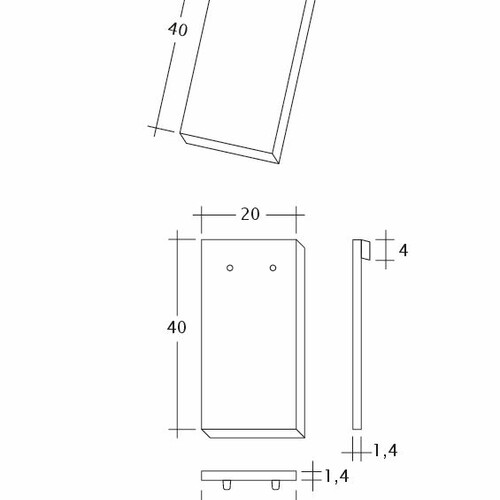 Product technical drawing AMBIENTE Ger-1-1