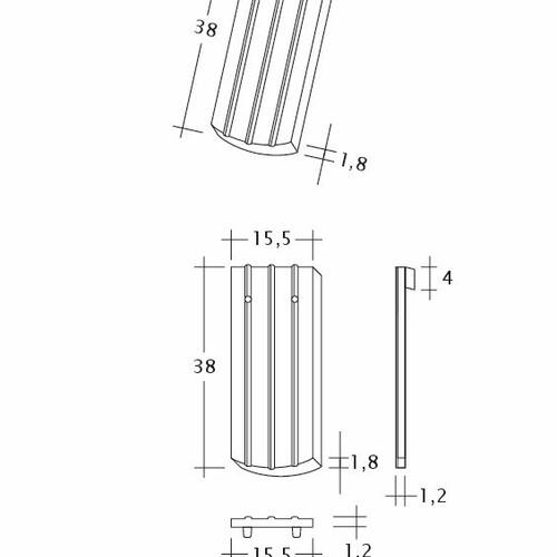 Product technical drawing PROFIL Kera-Saechs-15cm-1-1