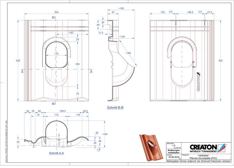 Product CAD file VERONA accessories Grundplatte-PVC