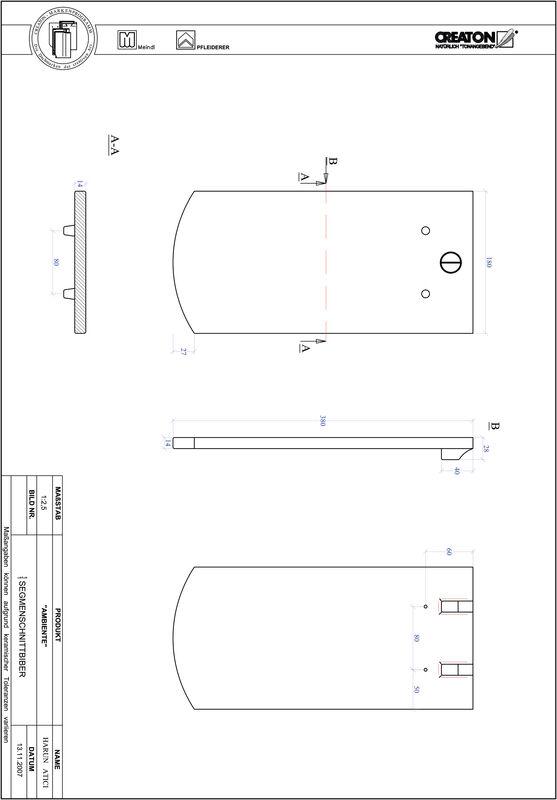 Product CAD file AMBIENTE segmented cut SEG-1-1