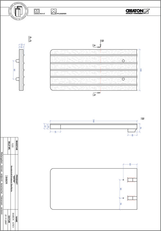 Product CAD file ANTIK straight cut GER-ERHO