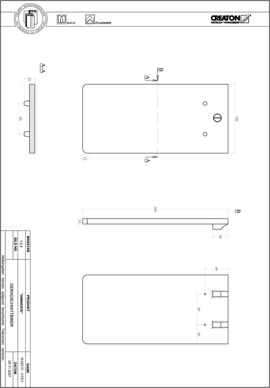 Product CAD file AMBIENTE straight cut GER