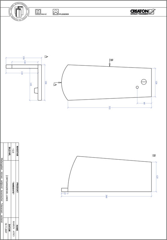 Product CAD file AMBIENTE segmented cut SEG-OGL-3-4