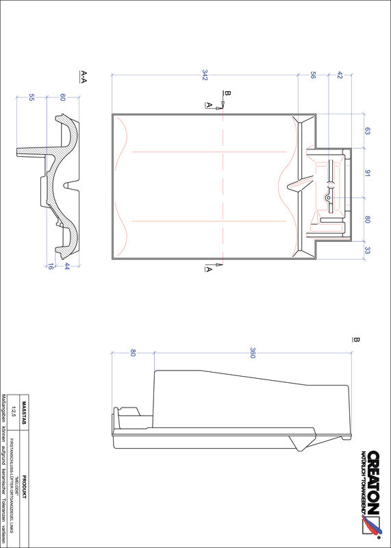 Product CAD file MELODIE ridge connection ventilator verge left FALOGL