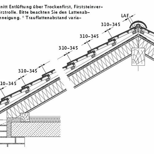 Product technical drawing HEIDELBERG DQF LUEFT-PROFILIERTE-BDS