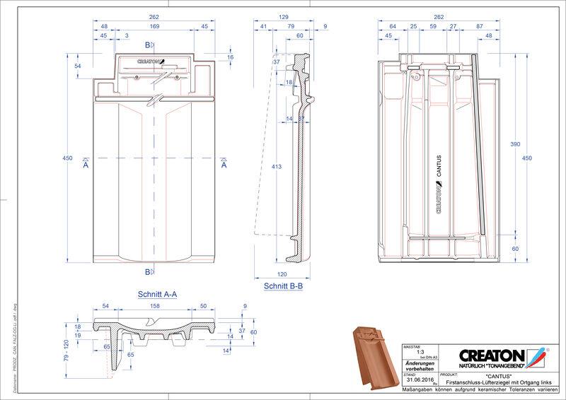 Product CAD file CANTUS ridge connection ventilator verge left FALOGL