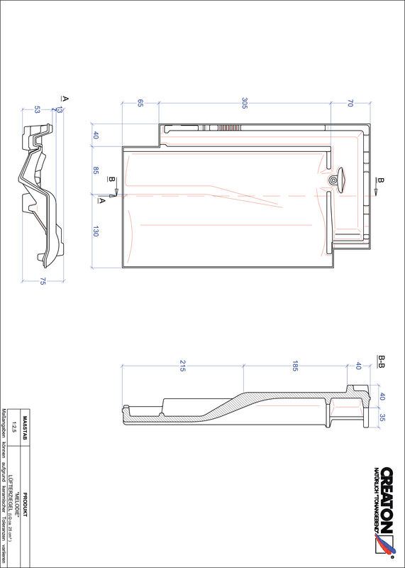 Product CAD file MELODIE ventilating tile LUEFTZ