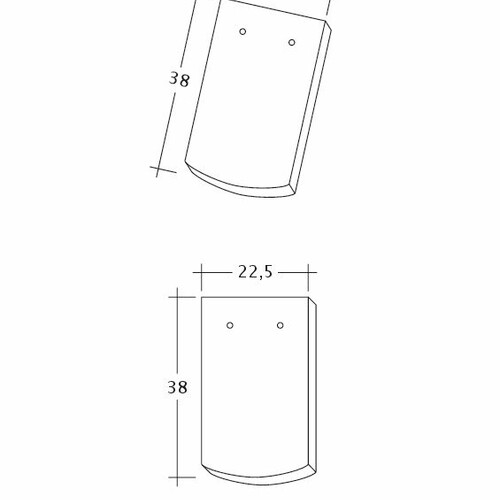 Product technical drawing AMBIENTE Seg-1-1-4