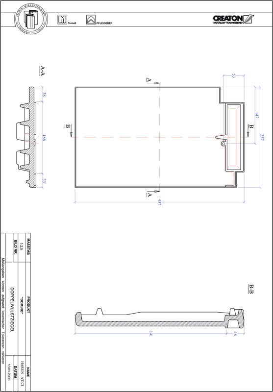 Product CAD file DOMINO double roll tile DWZ