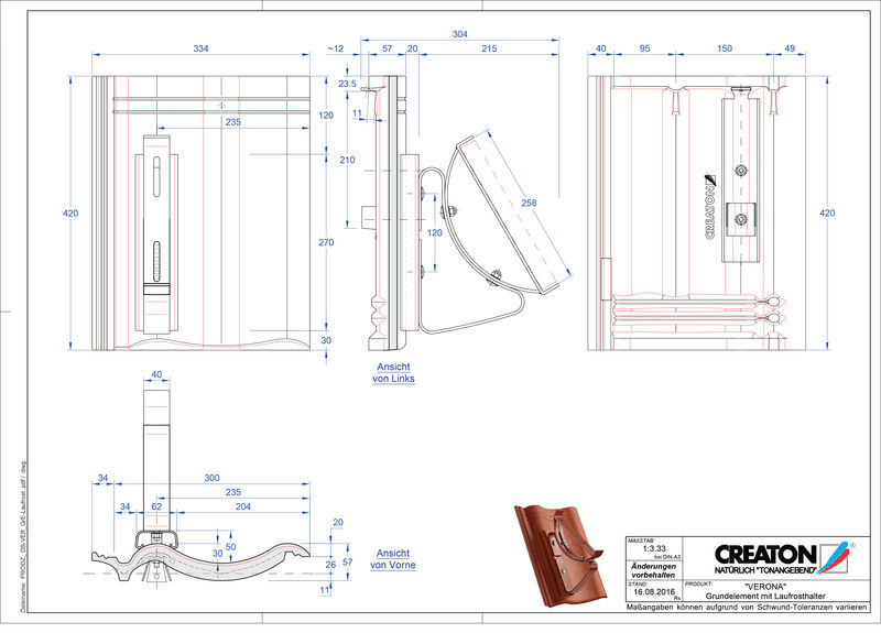 Product CAD file VERONA base element Laufrost