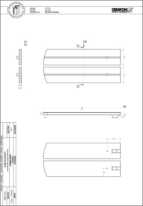 Product CAD file PROFIL segmented cut KERA-SAECHS-15-CM-LH