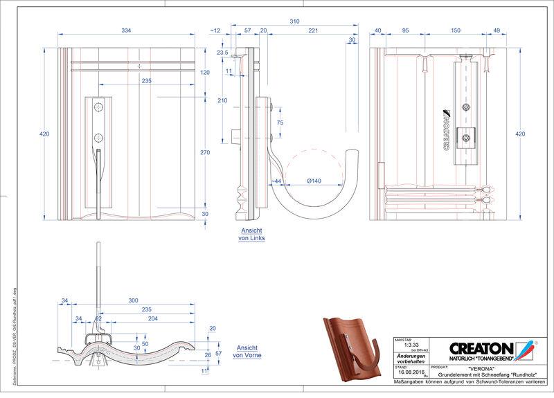 Product CAD file VERONA base element Rundholz