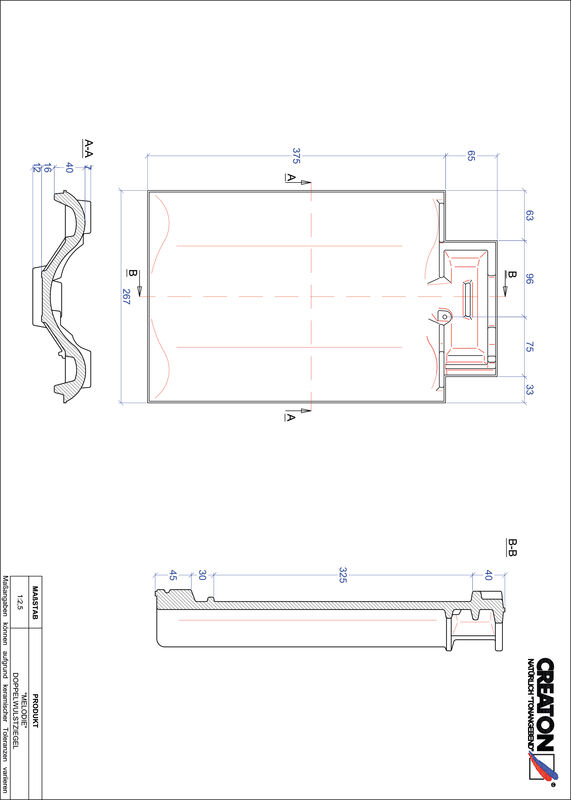 Product CAD file MELODIE double roll tile DWZ