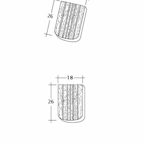 Product technical drawing ANTIK ErhO-Korb-Firstanschluss
