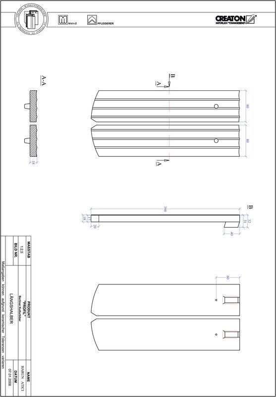 Product CAD file PROFIL segmented cut BKBI-LH