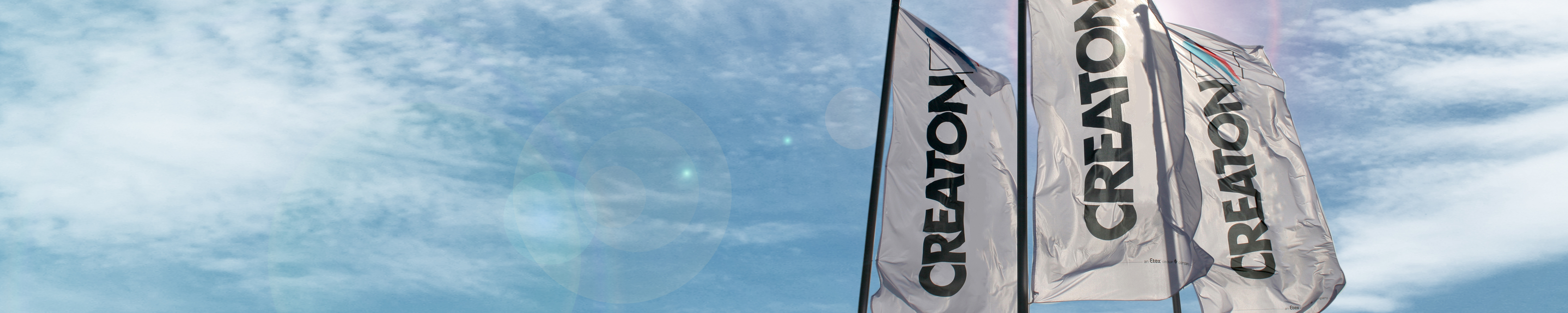 CREATON Flags with blue sky