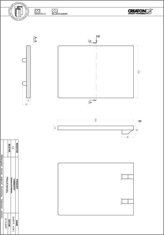 Product CAD file AMBIENTE segmented cut SEG-TRAUFZIEGEL